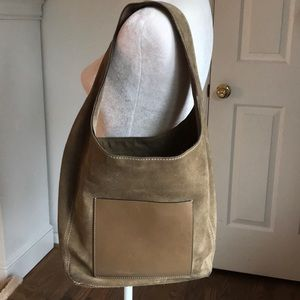 Michael Kors Brown Suede Hobo Bag